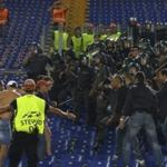 Two Russian fans were injured body in collisions during the tournament Roma - CSKA