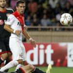 Players Monaco defeated Leverkusen in the Champions League game