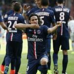Players PSG beat Bastia in the championship game of France