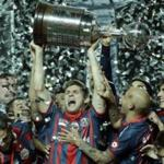 Players Argentina's San Lorenzo became the winners of the Copa Libertadores