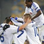 The players of Dynamo Kiev won the Dnieper river in the Ukrainian championship game
