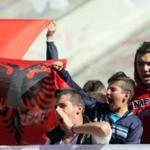 About a thousand fans of the national Team of Albania held a protest at the headquarters of UEFA